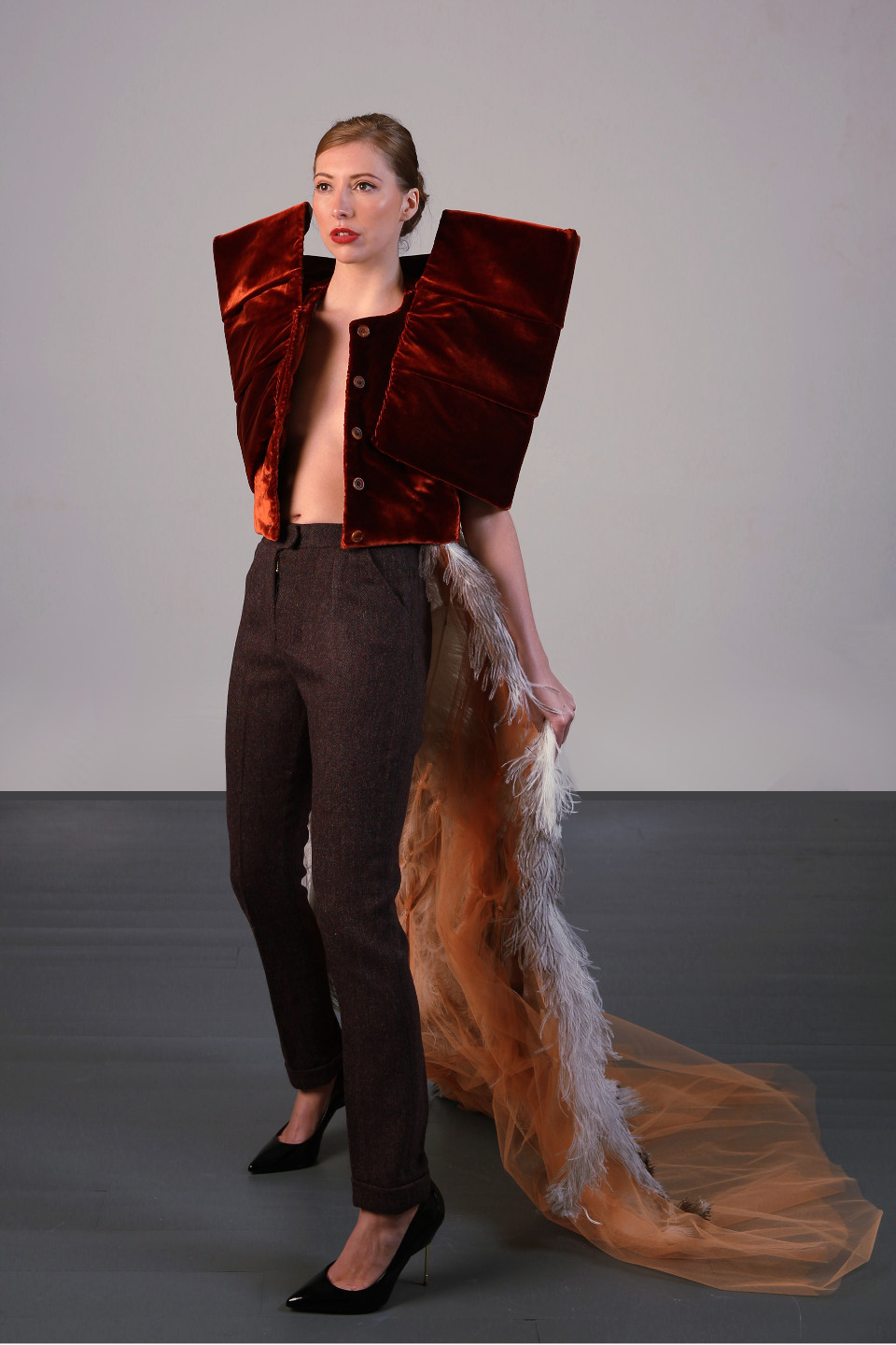 designscene couturier angelo fair london atelier show stopping outfits red carpet