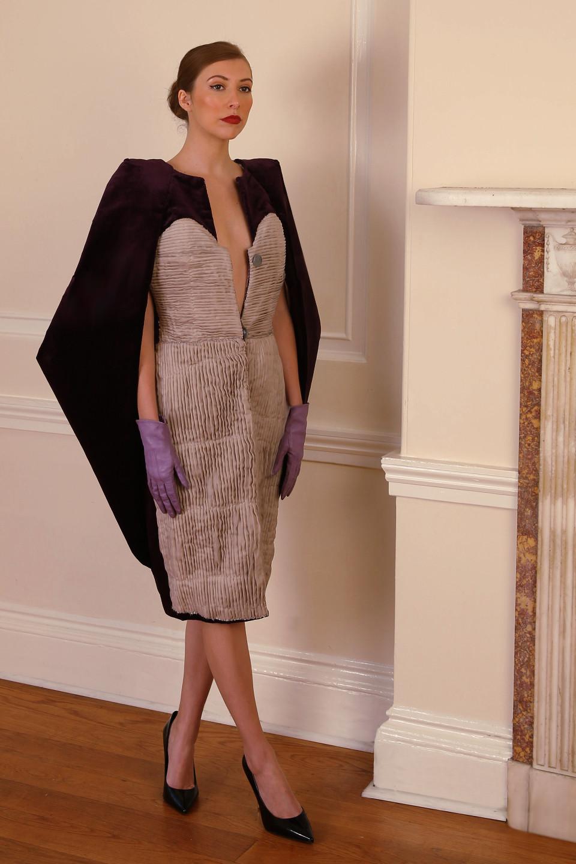 new designer angelo fair purple velvet coat applique