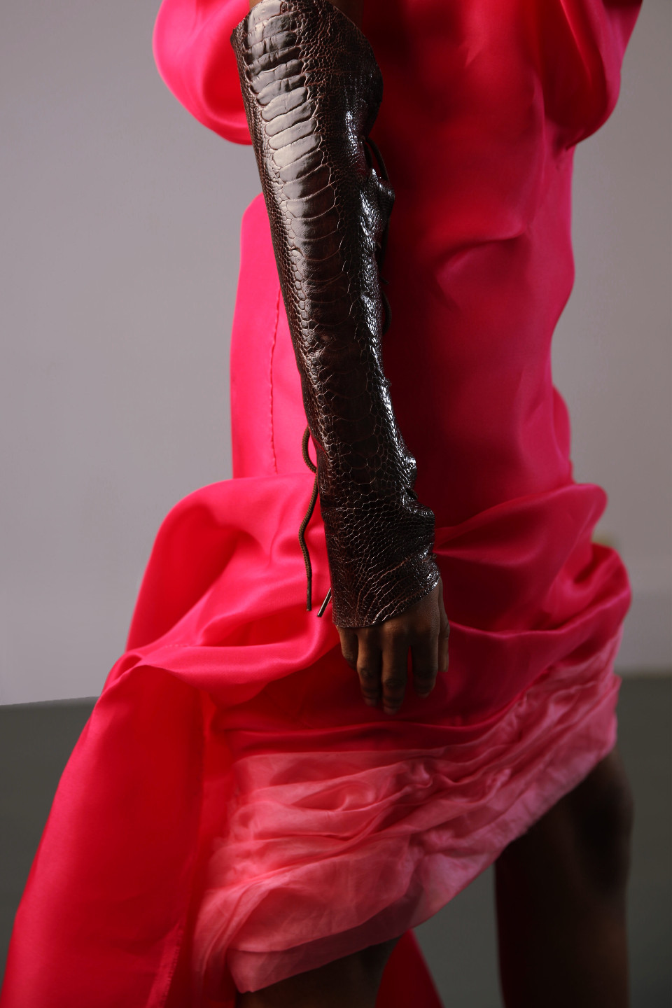 angelo fair couture dress collection red silk